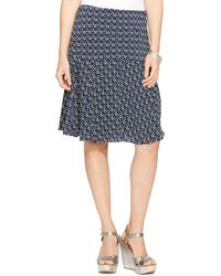 Lauren by Ralph Lauren Printed Fit & Flare Skirt - Lyst