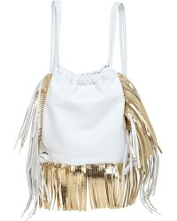 Sara Battaglia - David Fringed Nappa Leather Backpack - Lyst