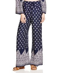 Band Of Gypsies - Printed Wide Leg Trousers - Lyst