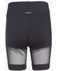 Michi - Sheer Panel Shorts - Lyst