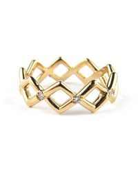 Pamela Love Mpl Gold And Diamond Crossover Band - Lyst