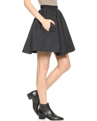 Acne Studios Romantic Taffeta Skirt Dusty Pink - Lyst