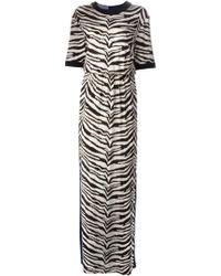 Emanuel Ungaro Contrast Zebra Print Dress - Lyst