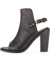 Rag & Bone Wyatt Open-Toe Bootie - Lyst