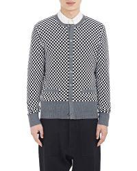 Wooster + Lardini - Checkerboard Cardigan - Lyst