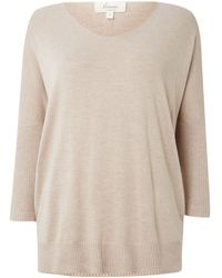 Linea Weekend Vneck Solid Jumper - Lyst