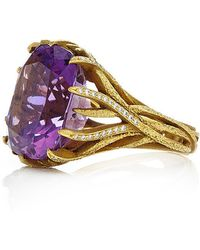 Nicholas Varney - Amethyst And Diamond Vine Ring - Lyst