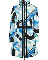 Emilio Pucci Quilted Printed Shell Down Coat - Lyst