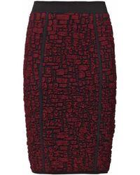 Nina Ricci Crocodileeffect Jacquard Pencil Skirt - Lyst