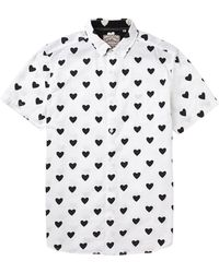Brave Soul All Over Hearts Short Sleeve Shirt - Lyst