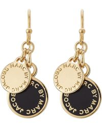 Marc By Marc Jacobs - Logo Charm Earrings - Black - Lyst