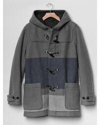 Gap Wool Stripe Duffle Coat - Lyst