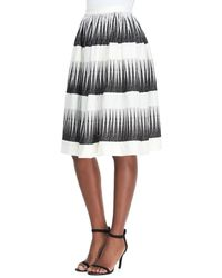 Suno Crinkly Top with Foiled Yoke  Printed Full Midi Skirt - Lyst
