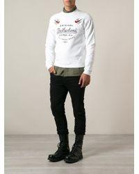 DSquared2 White Brotherhood Sweatshirt - Lyst
