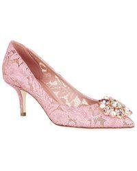 Dolce & Gabbana Penny Lace Pump - Lyst