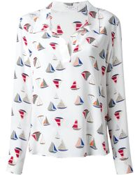 Equipment Arden Sail Print Blouse - Lyst