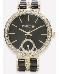Bebe - Crystal & Enamel Watch - Lyst