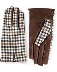 Etro Check Pattern Gloves - Lyst