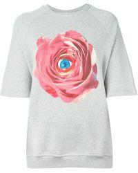 MSGM Floral Eye Print Sweatshirt - Lyst