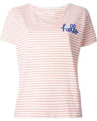 Chinti & Parker Hello Print Striped T-Shirt - Lyst