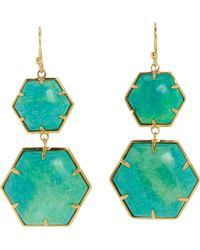 Sonya Renee Jewelry - Turquoise Hexagon Double Drop Earrings - Lyst