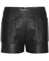 Balenciaga Leather Shorts - Lyst