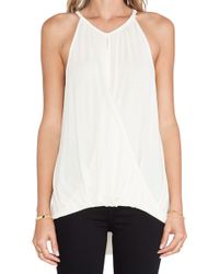 Michael Stars Sleeveless Keyhole High Low Halter Top - Lyst