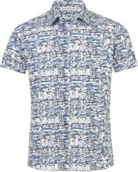 Orlebar Brown Pelham Short Sleeve Sportshirt blue - Lyst