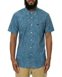 RVCA The Thatll Do Printed Short Sleeve Button Down - Lyst