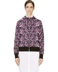 Marcelo Burlon County Of Milan Purple Snake Print Hooded Windbreaker - Lyst
