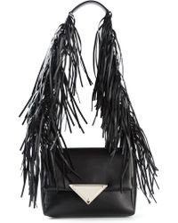 Sara Battaglia Teresa Leather Shoulder Bag - Lyst