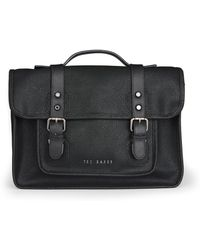 Ted Baker Black Scotch Grain Satchel - Lyst