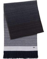 BOSS | 't-cadori' | Italian Wool Herringbone Scarf | Lyst