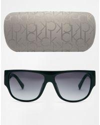 CALVIN KLEIN 205W39NYC - Ck Wayfarer Sunglasses - Lyst