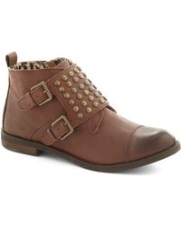 ModCloth Bring Your Best Bootie brown - Lyst
