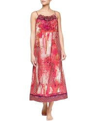 Oscar de la Renta Arabian Sunset Printed Long Gown - Lyst