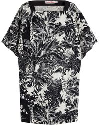 See By Chloé Jungle Poplin Kimono Sleeve Dress - Lyst