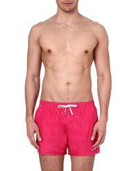 DSquared2 Logo Swim Shorts Fuxia Pink - Lyst