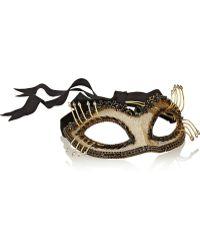 Erickson Beamon Damsel Swarovski Crystal-embellished Gold-plated Mask - Lyst