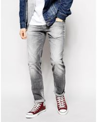 Pepe Jeans - Cane Slim Fit Smoked Gray Stretch Mid Wash - Lyst