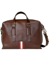 Bally Grained Leather Pc Holder Briefcase - Lyst