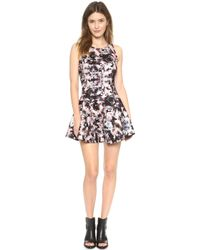 Addison - Carmen Fit & Flare Dress - Floral Collage - Lyst