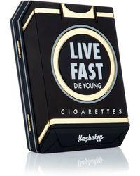 Yazbukey Black Le Live Fast Clutch black - Lyst
