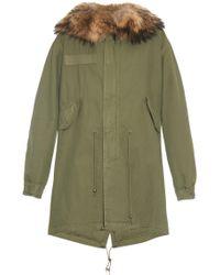 Mr & Mrs Furs Fur-Trimmed Longline Parka - Lyst