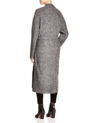 DKNY - Pure Heathered Wool Wrap Coat - Lyst