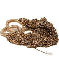 Arielle De Pinto | Ribbed Gold Bracelet | Lyst