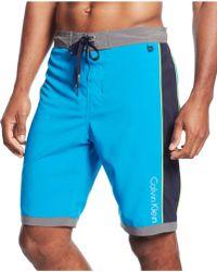 Calvin Klein Contrast Swim Shorts blue - Lyst