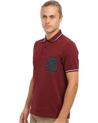 Fred Perry Drakes Floral Pocket Fp Polo - Lyst