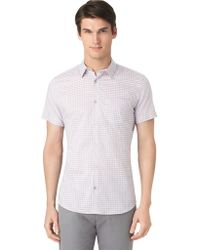 Calvin Klein Modern Fit Medium Shadow Check Sport Shirt - Lyst