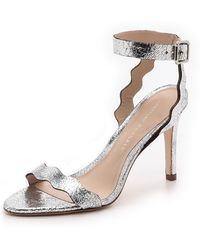Loeffler Randall Reina Mirrored Leather Sandals - Lyst